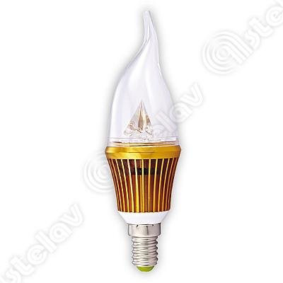 LAMPADINA LED COLPO VENTO 38X135 MM 4W E14 55304920